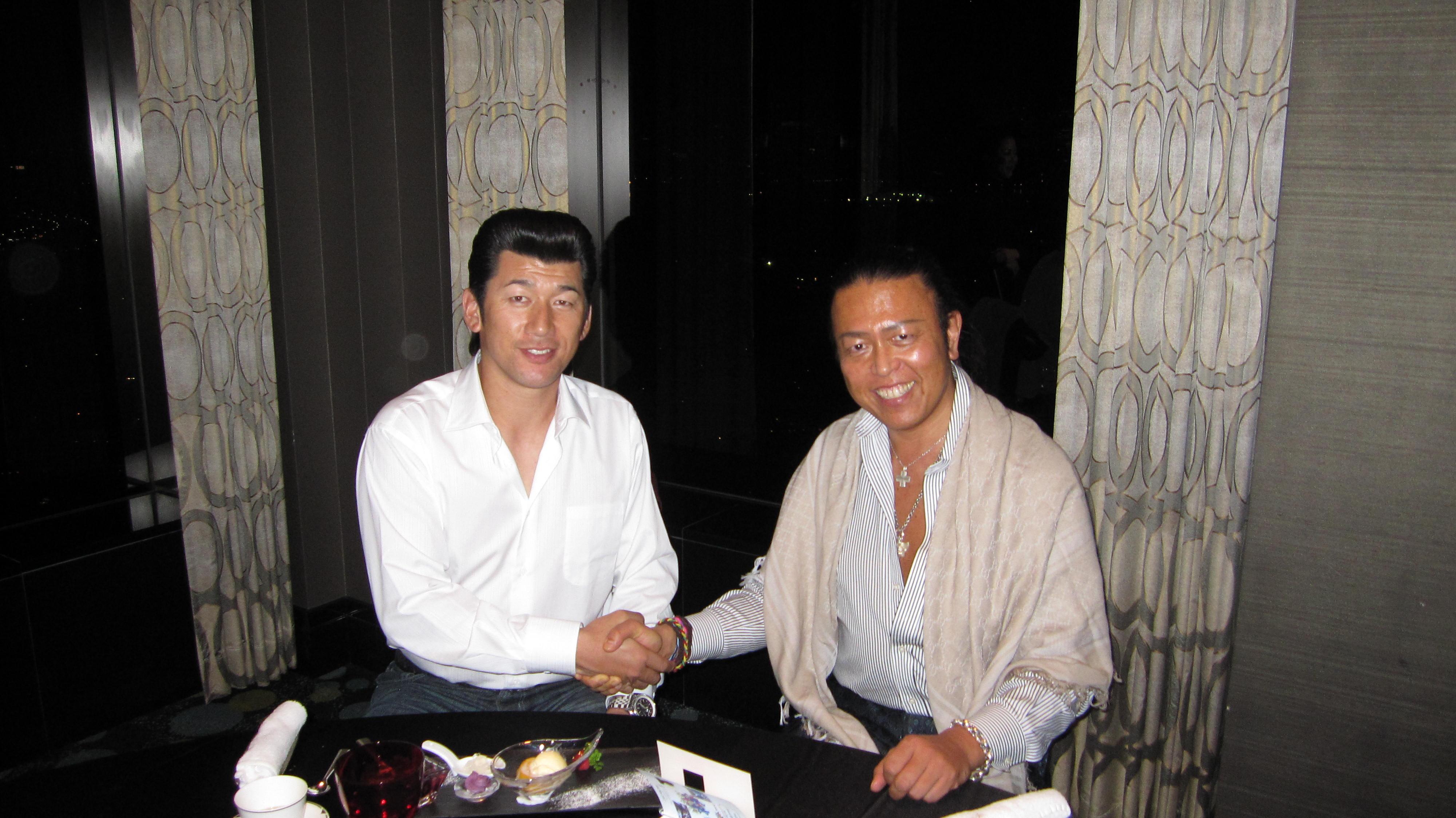 番長と握手.JPG